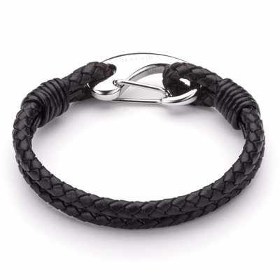 Koru Leather Bracelet With Fish Hook