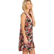 Sleeveless Floral Print V-Neck Dress