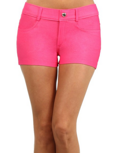 Jegging Shorts - Fuchsia