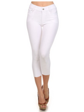 Capri Jeggings - White