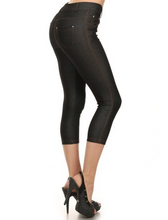 Capri Jeggings - Black