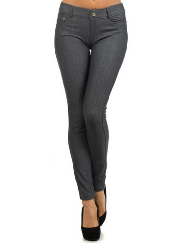 Gray Fashion Jeggings