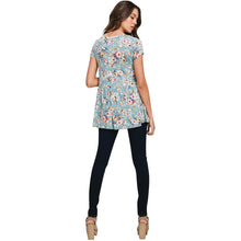 New!  Sage Floral Peplum Top