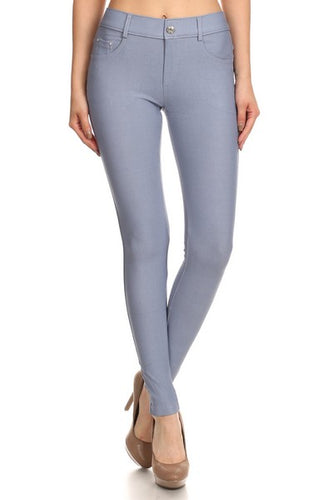 Slate Gray Fashion Jeggings