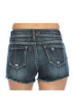 Distressed Cutoff Denim Shorts - Light Denim