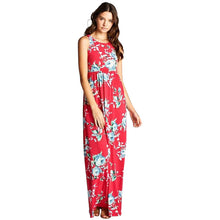 New!  Hot Pink Floral Maxi Dress