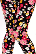 Daisy Print Brushed Leggings