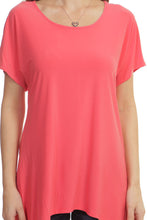 Handkerchief Tunic Top - Coral
