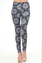 Mandala Print Brushed Leggings