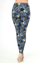 Patchwork Print Brushed Leggings