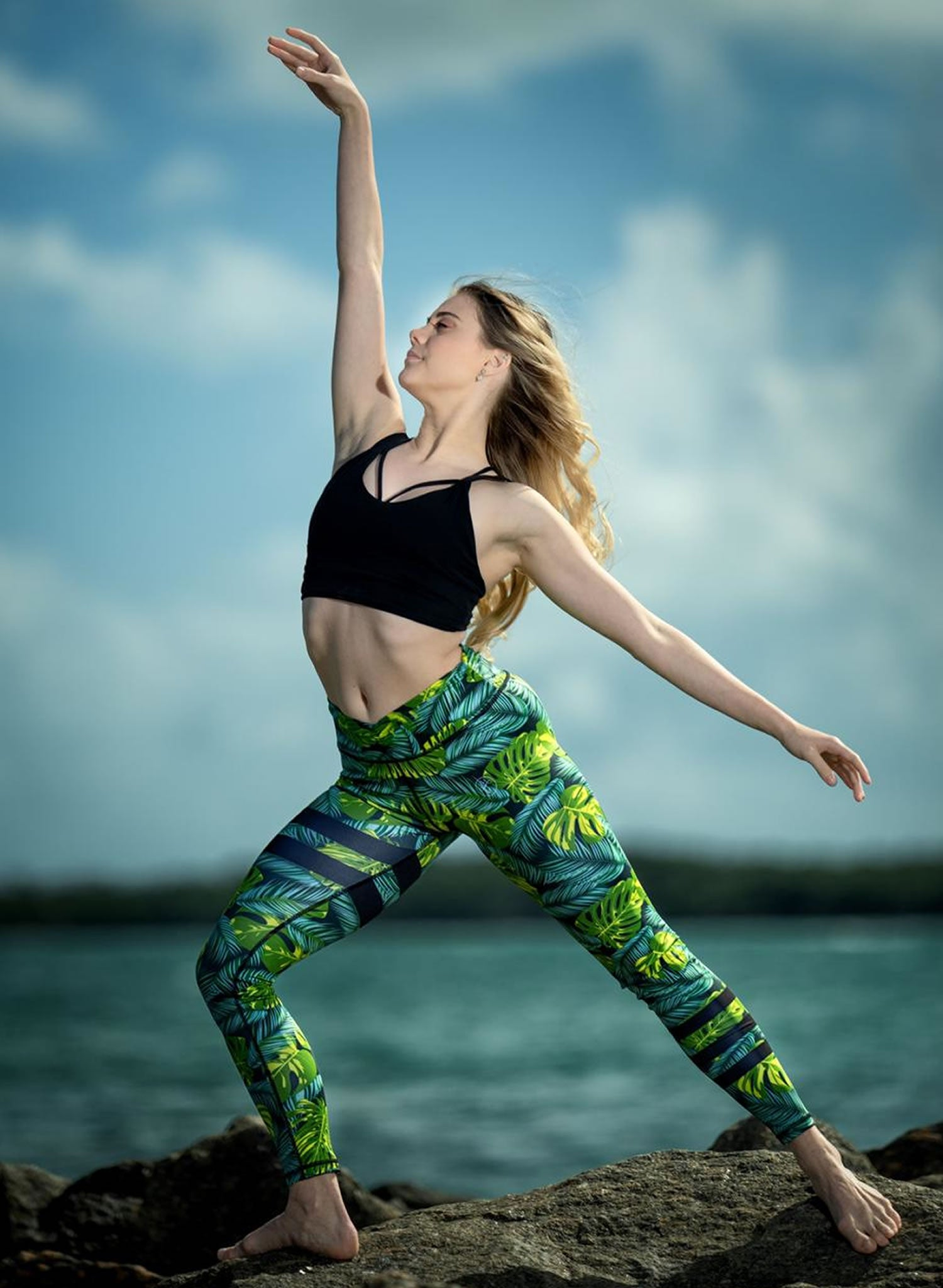 Green Leafs Leggings