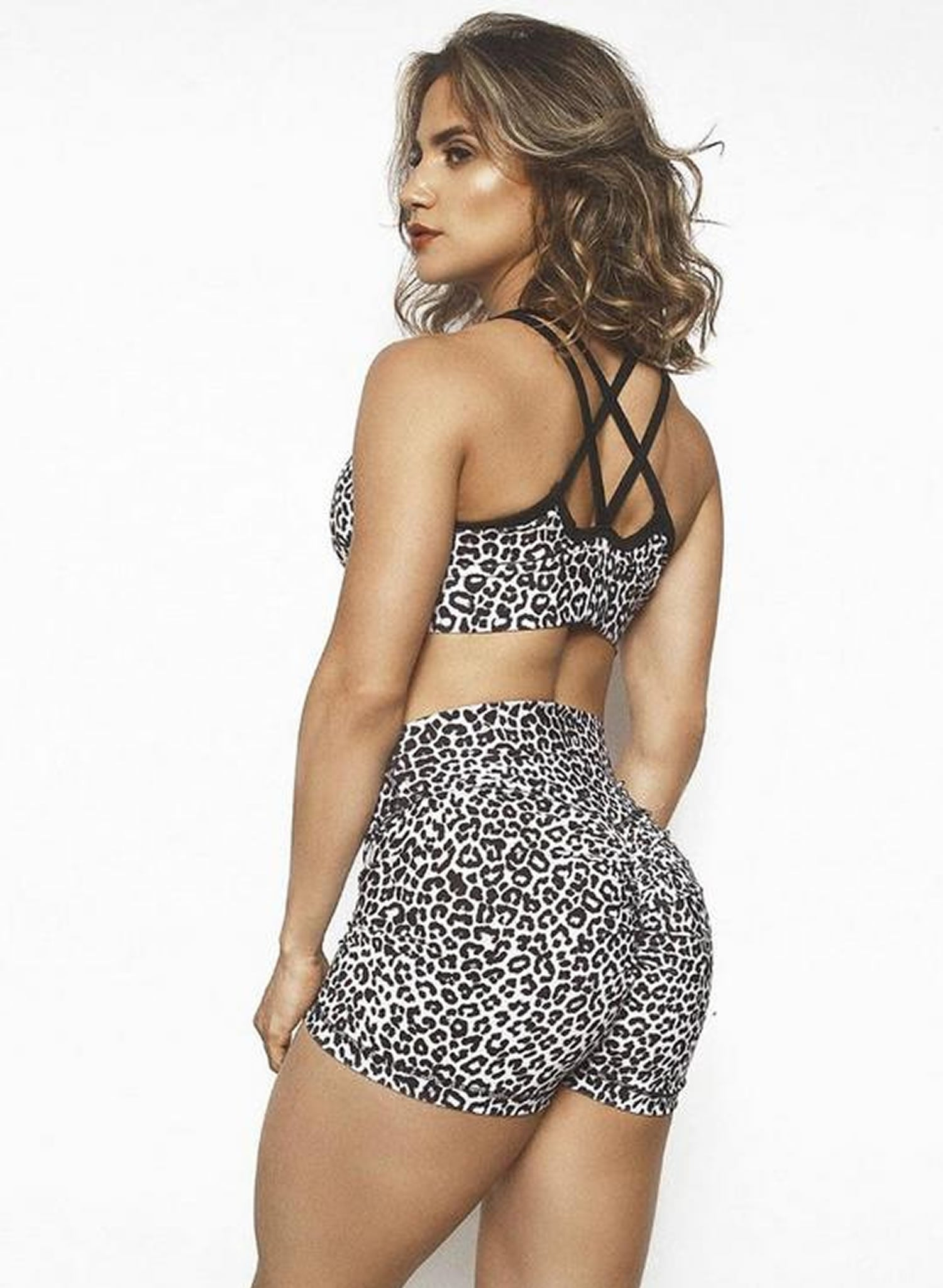 Summer Leopard Shorts Set