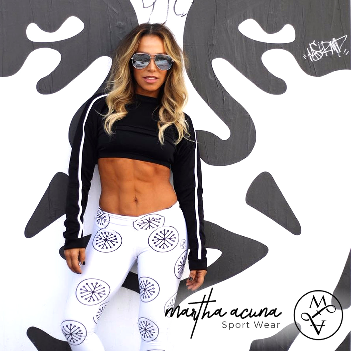 White Tuning Leggings