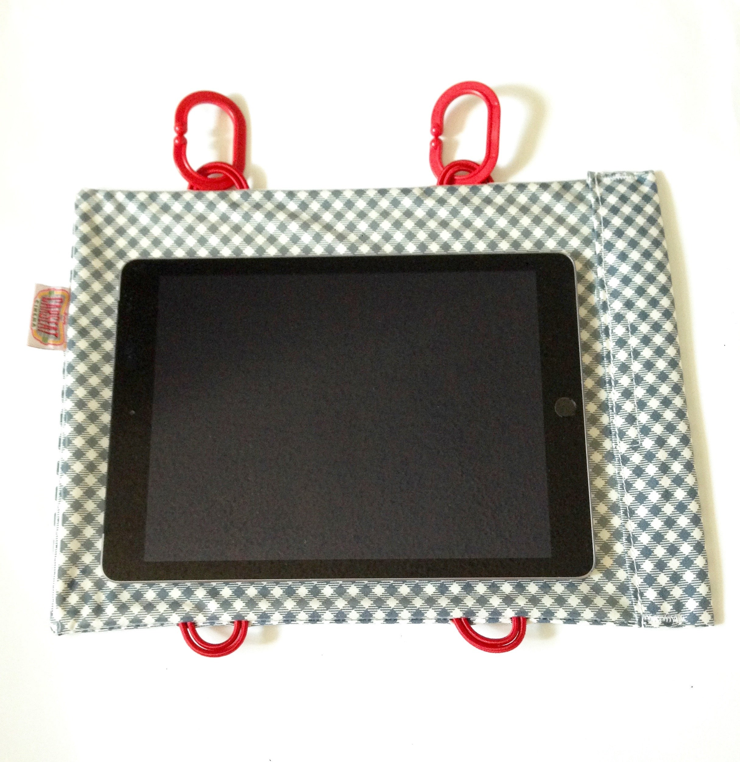 Charcoal Check Tablet Case