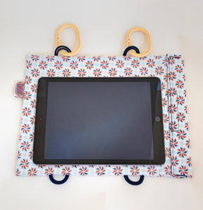 ORANGE PINWHEEL PARTY Tablet Case