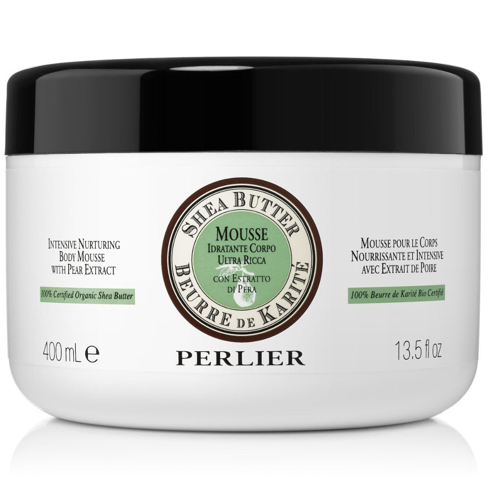 PERLIER'S SHEA BUTTER + PEAR BODY MOUSSE