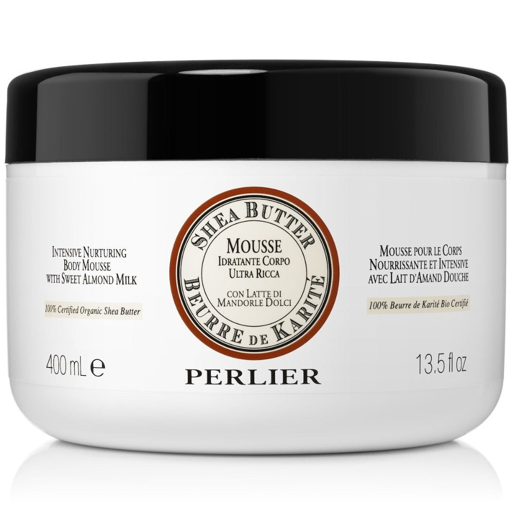 PERLIER'S SHEA BUTTER + SWEET ALMOND BODY MOUSSE