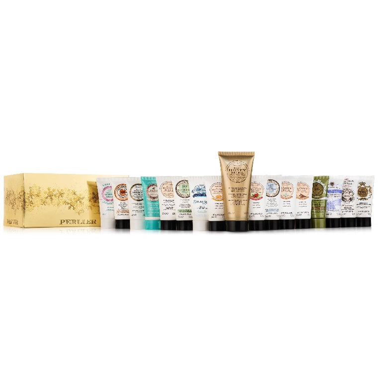17 Piece Hand Cream Set (16 Minis + 1 Honey Miel Anti-Aging Hand Cream)