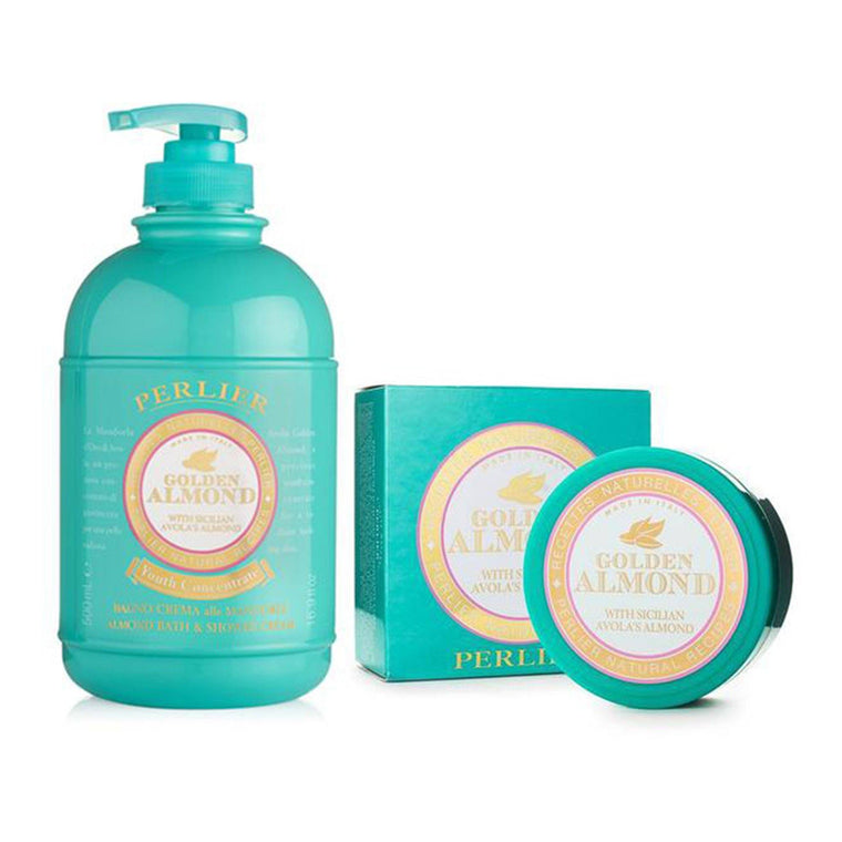 Golden Almond Bath Cream & Body Cream (2pc Kit)