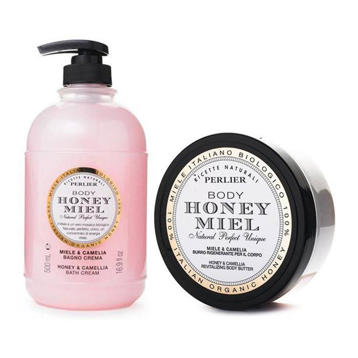 Honey & Camellia Bath Cream & Body Butter (2pc Kit)