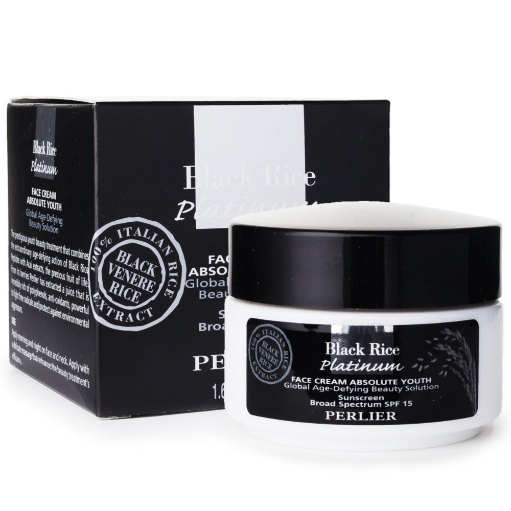 PERLIER'S BLACK RICE SPF 15 ABSOLUTE YOUTH FACE CREAM