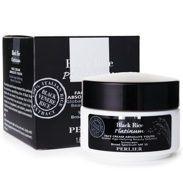 Black rice facial products from italy