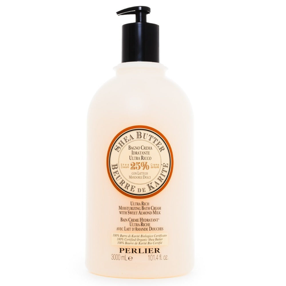 PERLIER'S SHEA BUTTER + SWEET ALMOND BATH & SHOWER CREAM - JUMBO SIZE