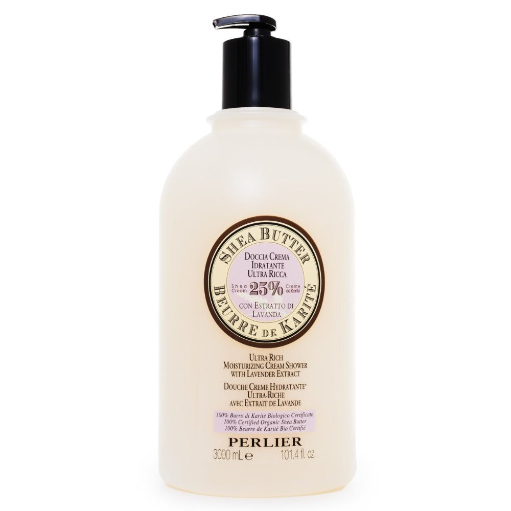 PERLIER'S SHEA BUTTER + LAVENDER BATH & SHOWER CREAM - JUMBO SIZE