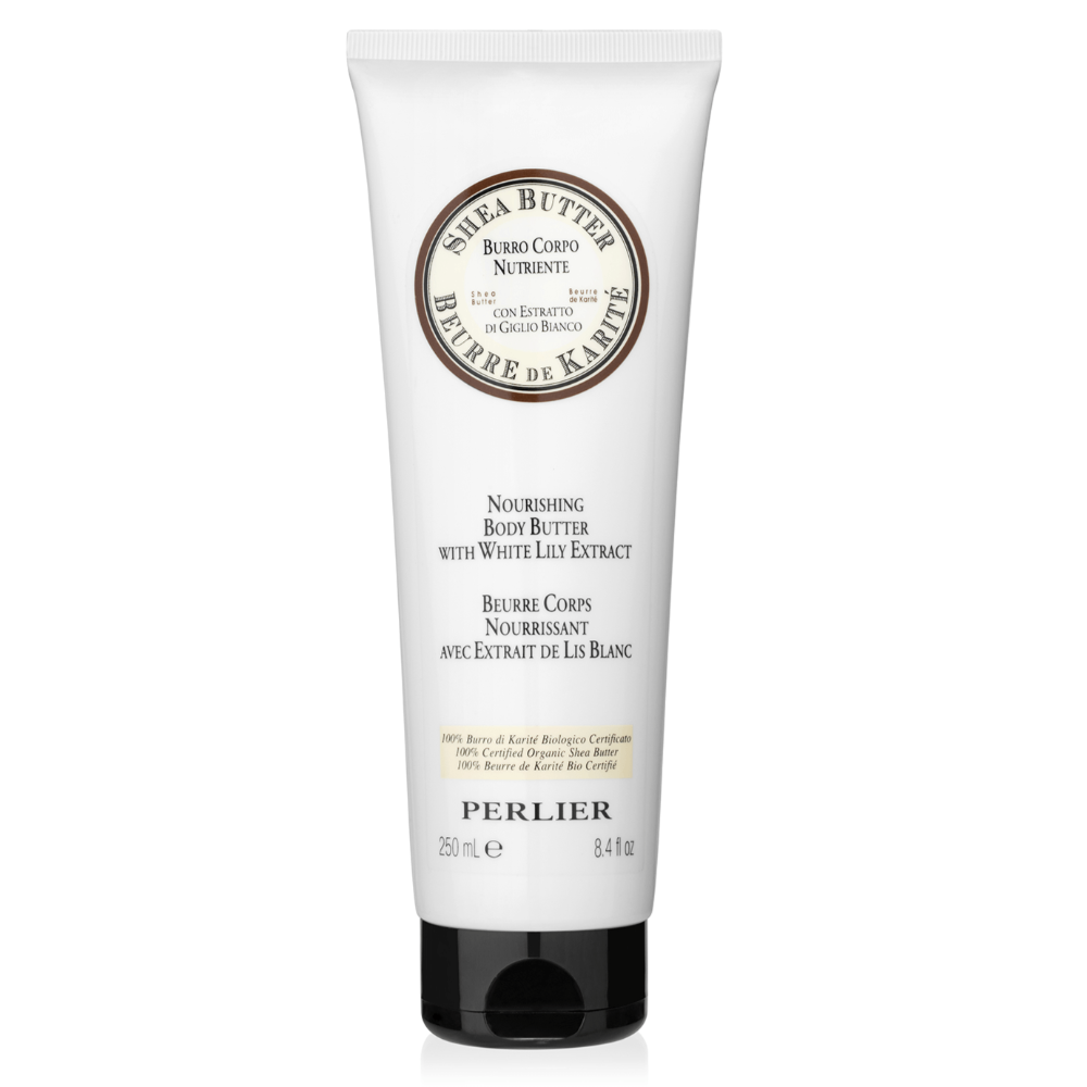 PERLIER'S SHEA BUTTER + WHITE LILY BODY BUTTER
