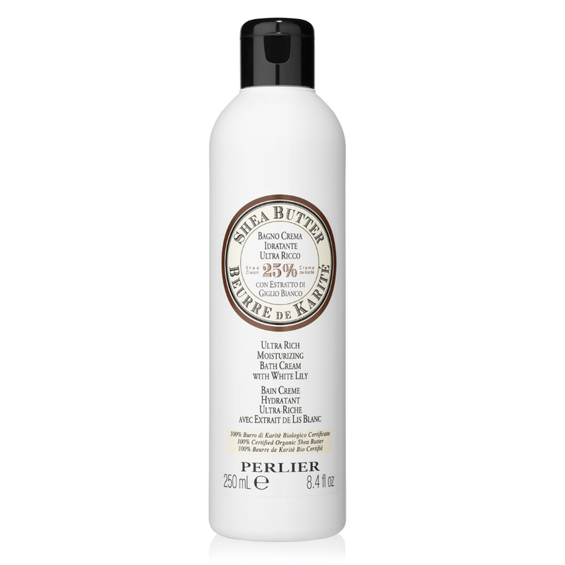 PERLIER'S SHEA BUTTER + WHITE LILY BATH & SHOWER CREAM