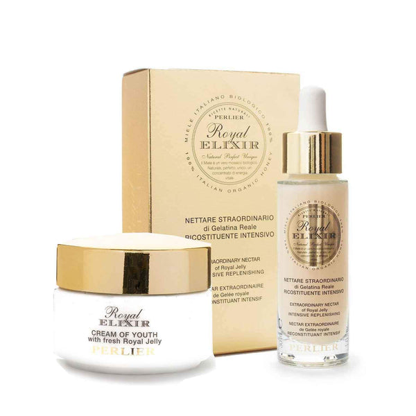 Royal Elixir Extraordinary Nectar of Royal Jelly Serum 1.0 fl oz + Royal Elixir Cream of Youth 1.6 fl oz