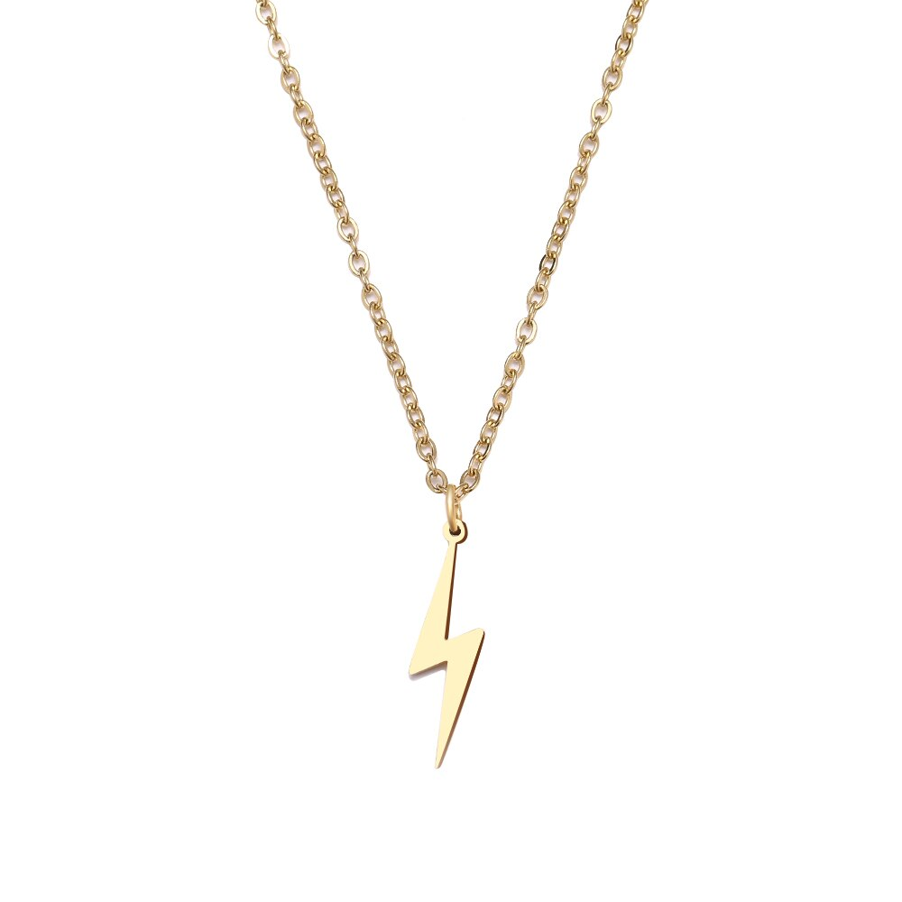 Stainless Gold Lightning Bolt