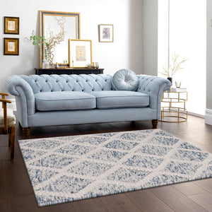 BigWig Natural Blue Wool Rugs