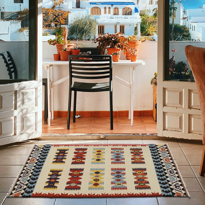 Torkeey Multicolors Handknotted Kilim Rugs