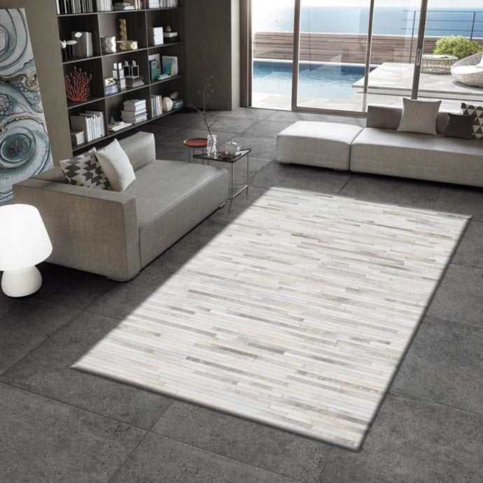 Otrix Natural Hair on Leather Hide Rugs