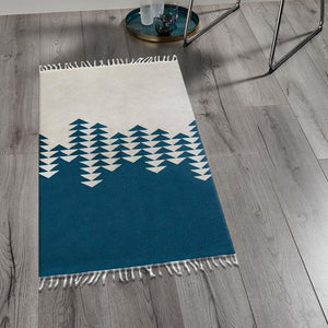 Scoopy Blue & Off White Kilims Rugs
