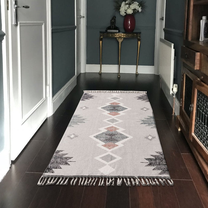 Rotary Grey Handknotted Kilim Rugs