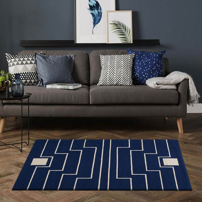 Xplor Navy & White Kilims Rugs