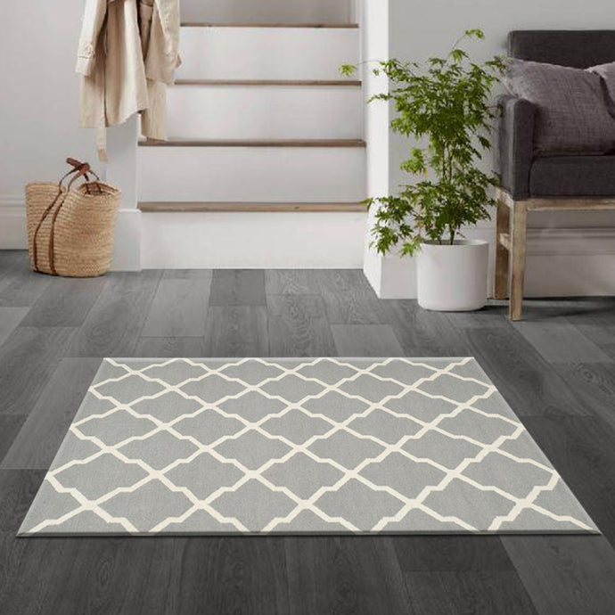 Swirlly Grey & White Kilims Carpets