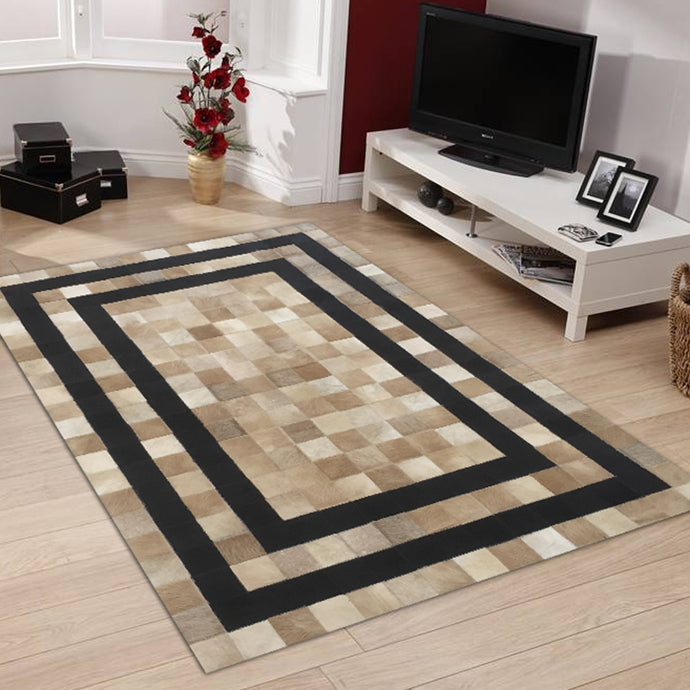 Manilla Beige Hairon Leather Carpet