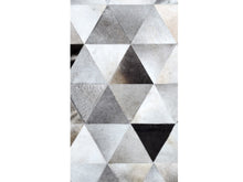 Diamond Silver Hairon Leather Carpet