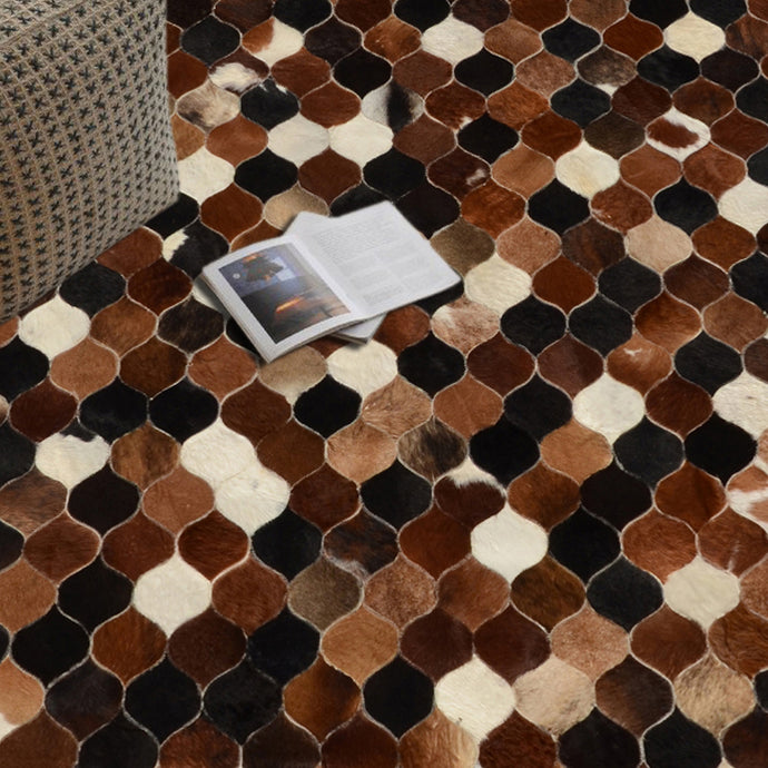 Vapour Choco Brown Hairon Leather Carpet