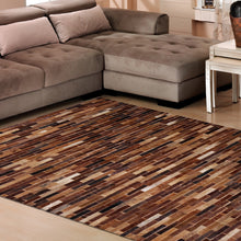 Inferno Brown Hairon Leather Carpet