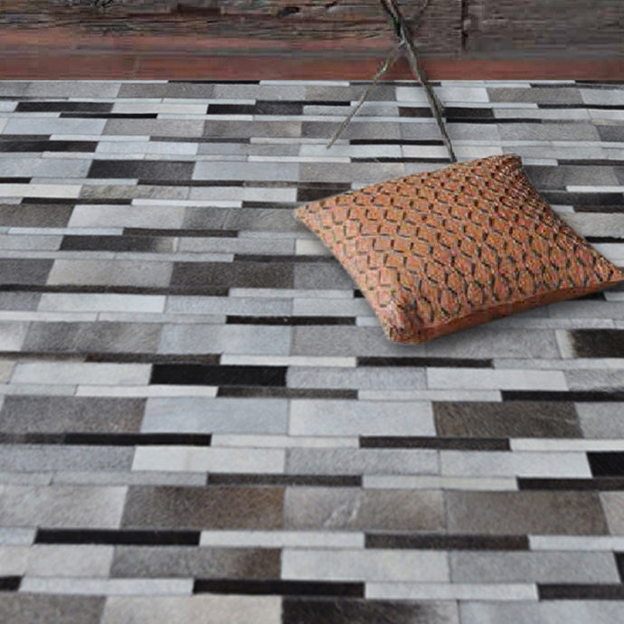 Zian Grey Hairon Leather Carpet