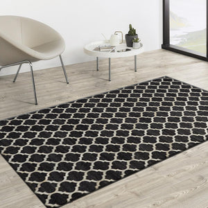 Fritz Black Hair on Leather hide Rugs