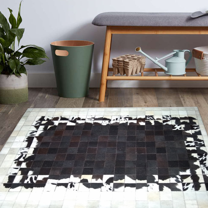 Bloom Luxary Brown Hair on Leather Rugs