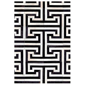Fiesto Black&White Hair on Leather hide Rugs