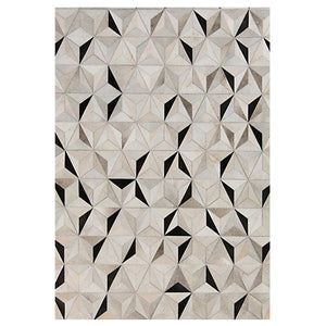 Quiver Beige Hair on Leather Modern carpets