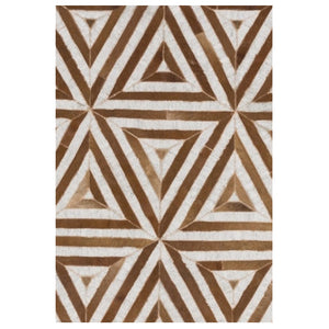 Pulze Brown Hair on Leather hide Rugs