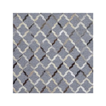 Dellin Dark Grey hand knotted Wool Area Rugs